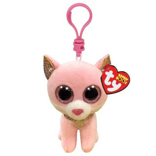 Ty Beanie Boo's Clip Fiona Pink Cat, 7cm 2007536