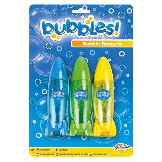Bubble Blowing Rocket, 3pcs. 600008