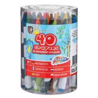 Wax crayons, 40 pcs. 150026