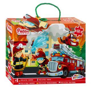 Floor puzzle Fire Department, 60pcs. 400023