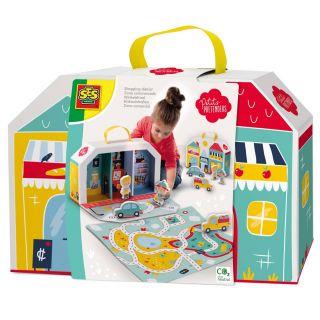 SES Petit Pretenders Shopping Street Play Case 18015