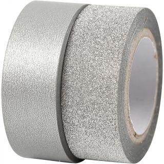 Creativ Company - Masking Tape Silver 2m, 2pcs. 25221