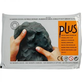 Creativ Company - Self-hardening modeling clay Black, 1000gr 789030