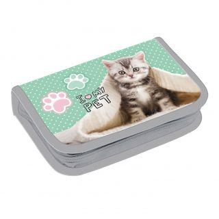 Filled Pencil Case Cat Pastel 446600