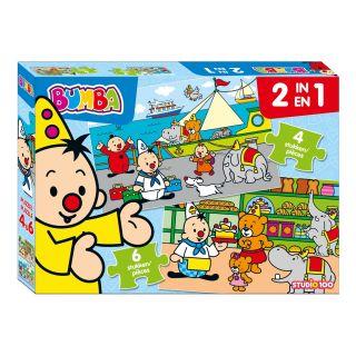 Studio 100 Puzzle Bumba 2 en 1,  4 et 6 pièces