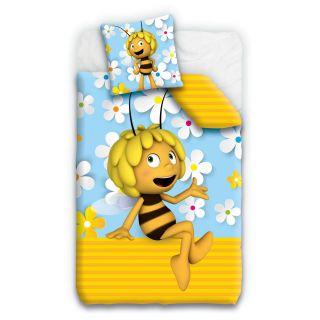 Studio 100 Housse de couette et tête d'oreiller Maya l'abeille