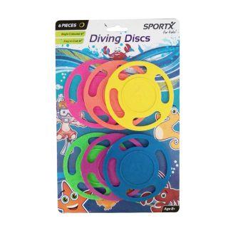 Jouet-Plus Disques de plongée 6pcs