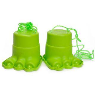 Jouet-Plus Mini échasse en plastique avec corde enfant patte de monstre