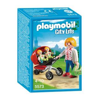 Playmobil City Life - 5573 - Maman avec jumeaux et landau