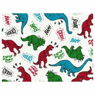 Wrapping paper Dino's, 3 mtr.