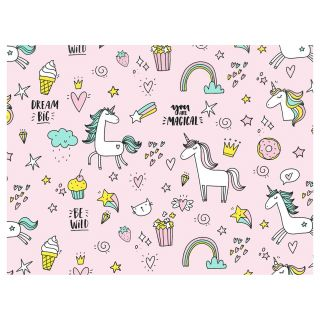 Wrapping paper Unicorns, 3 mtr.