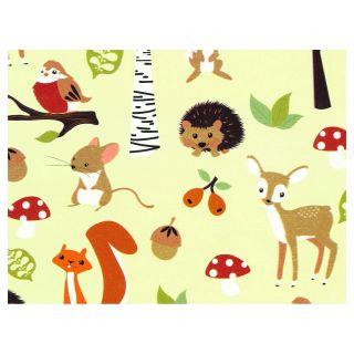 Papier cadeaux Les animaux de la forêt 3 mètres