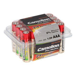 Jouet-Plus Pack de 24 Piles Camelion Alcaline LR03 Micro AAA