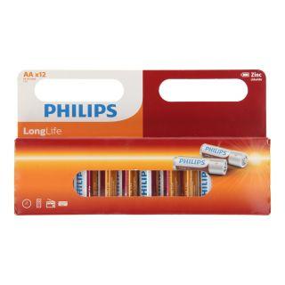 Philips Pile Longlife AA / R6, 12pcs.