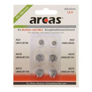 Jouet-Plus Pack de 6 piles bouton Arcas AG3-AG13