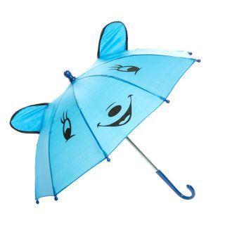 Jouet-Plus Parapluie Happy Animal bleu, Ø 50 cm