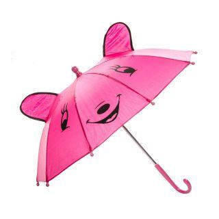 Jouet-Plus Parapluie Happy Animal rose, Ø 50 cm