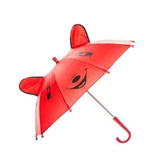 Jouet-Plus Parapluie Happy Animal rouge, Ø 50 cm