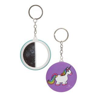 Keychain with Mirror Unicorn