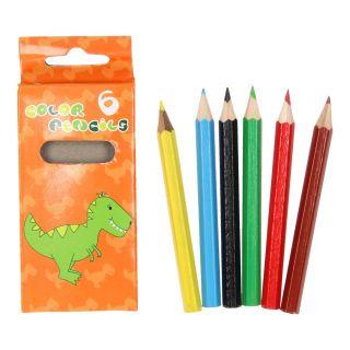 Colored pencils Dino, 6pcs.