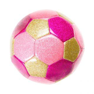 Jouet-Plus Balle de foot rose métallique 15 cm
