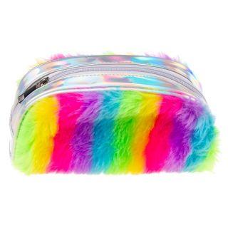 Fluffy rainbow case