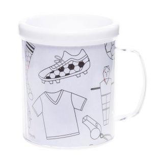Color your own Football Mug