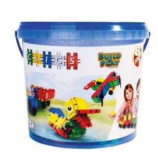 Clics Build & Play bucket, 8 in 1