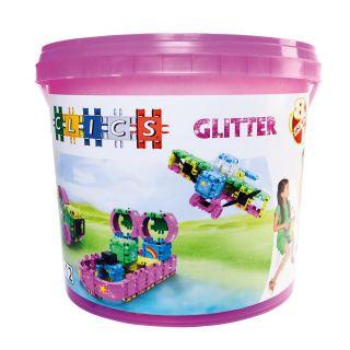 Clics Build & Play Glitter bucket, 8 in 1