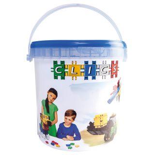 Clics Build & Play bucket, 10 in 1