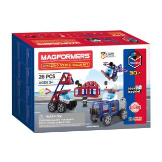 Magformers Amazing Police & Rescue Set, 26 pcs.