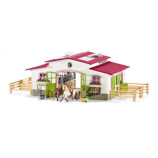 Schleich riding stables with horses and Rider