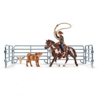 Schleich Lassovangst with Cowboy