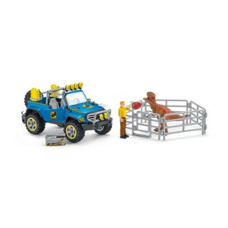 Schleich Off-road Vehicle with Dino Sentry