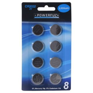 Button cell Batteries CR2032 8st.