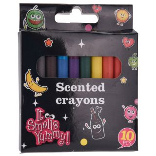 Wax Crayons with Scent, 10st.