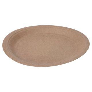 Degradable Cardboard Plates 22cm, 10pcs.