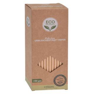 Biodegradable Straw Paper, 100pcs.