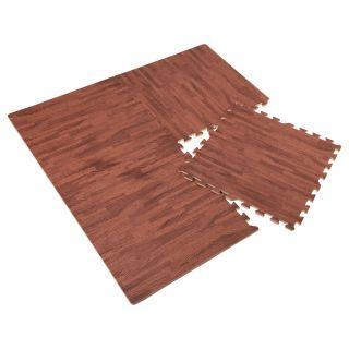 Floor Tiles Foam EVA - Wood Print Dark, 4pcs.