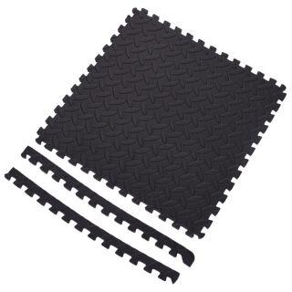 Floor tiles Foam EVA with Anti-Slip - Black, 6 pcs.