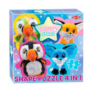 Lumo Stars Shape Puzzle 4in1 - Parrot and Foxes
