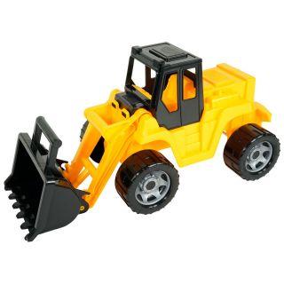 Jouet-Plus Lena pelle Giga Trucks junior, 63 cm noir/jaune
