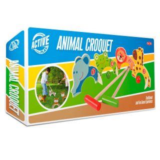 Wooden Animal Croquet Set