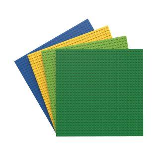 BiOBUDDi Baseplate Multi Colors, 4pcs.
