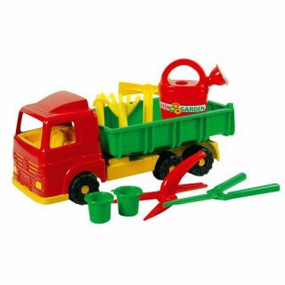 Jouet-Plus Camion inclinable avec outils de jardin