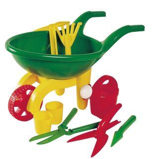 Jouet-Plus Brouette avec outils de jardinage pour enfants