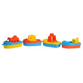 Jouet-Plus 4 bateaux de plage en plastique
