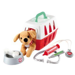 Ecoiffier Dog in travel basket