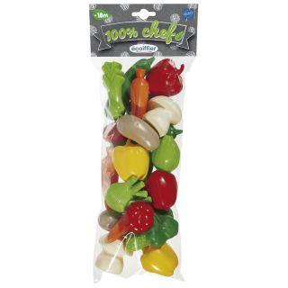 Ecoiffier 100% Chef Vegetable Set, 22 pcs.