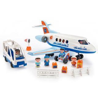 Abrick Avion bus et passagers d'aéroport